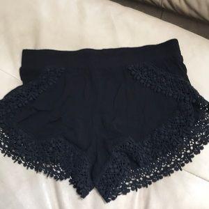 LA Hearts black festival shorts crochet medium